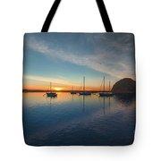 Sunset At Morro Bay Tote Bag