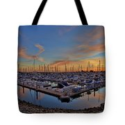 Sunset At Pier 32 Marina In National City, California Tote Bag by Sam Antonio Photography
