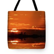 Sunset Behind Clouds Two Tote Bag