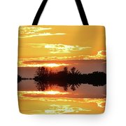 Sunset Behind The Tree Tops Two  Tote Bag