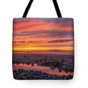 Sunset Explosion Over Lake Merritt Tote Bag