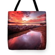 Sunset Harmony At Kiva Beach Tote Bag