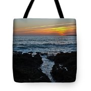 Sunset In Gale Beach. Coast Of Algarve Tote Bag