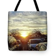 Sunset In Parking Lot 2 Tote Bag
