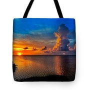 Sunset On Cudjoe Bay 8584 Tote Bag