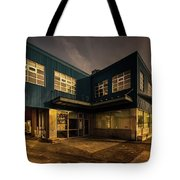 Sunset On North Building Tote Bag by Juan Contreras