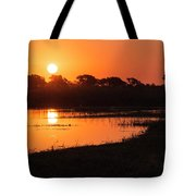Sunset On The Chobe River Tote Bag