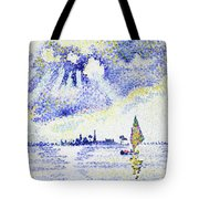 Sunset On The Lagoon, Venice - Digital Remastered Edition Tote Bag