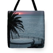 Sunset Over A Balcony Tote Bag