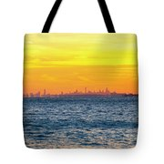 Sunset Over The City Tote Bag