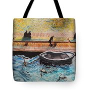 Sunset Scenery By Amsterdam Canal Tote Bag