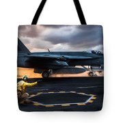 Sunset Shooter Tote Bag
