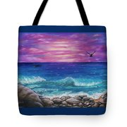 Sunset Wave Tote Bag
