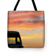 Sunset With The Van Tote Bag