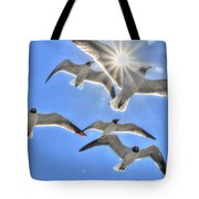 Sunshine And Seagulls Tote Bag