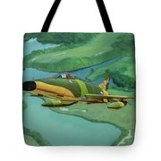 Super Sabres Over Vietnam - Oil Tote Bag