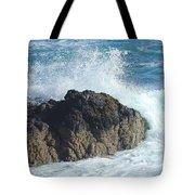 Surf On Rocks Tote Bag