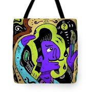 Surreal Painter Tote Bag