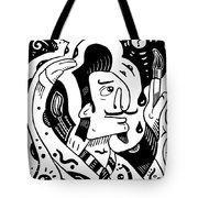Surrealism Painter Tote Bag
