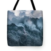 Surrounded By Morning Clouds Tote Bag by Jaroslaw Blaminsky