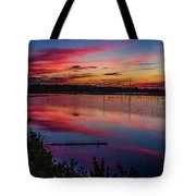 Sunset In The Pines Lands Tote Bag by Louis Dallara