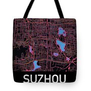 Suzhou City Map Tote Bag by Helge