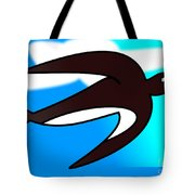 Swallow Flying With Flower In Its Beak Tote Bag
