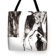 Swans After Mikhail Larionov Black Oil Painting 5 Tote Bag