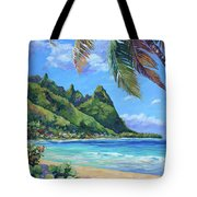 Swaying Palm On Makua Beach Tote Bag