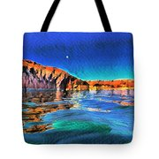 Swells And Reflections Lake Powell Tote Bag