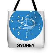 Sydney Blue Subway Map Tote Bag