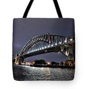 Sydney Harbor Bridge Night View Tote Bag