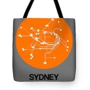 Sydney Orange Subway Map Tote Bag