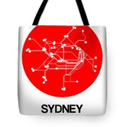 Sydney Red Subway Map Tote Bag