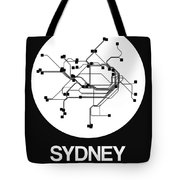 Sydney White Subway Map Tote Bag