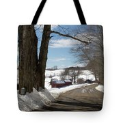 Take A Ride Down To The Jenne Farm Tote Bag by Jeff Folger
