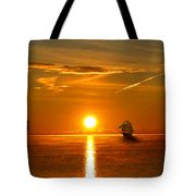 Tall Ships Of The Caribbean Tote Bag