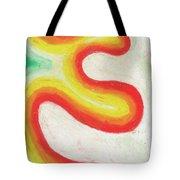 Tangerine Swoosh Tote Bag