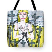 Tarot Of The Younger Self Eight Of Swords Tote Bag