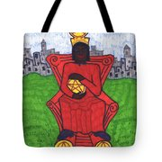 Tarot Of The Younger Self Four Of Pentacles Tote Bag