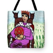 Tarot Of The Younger Self King Of Pentacles Tote Bag