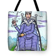 Tarot Of The Younger Self King Of Swords Tote Bag