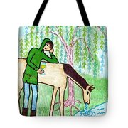 Tarot Of The Younger Self Knight Of Cups Tote Bag