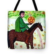 Tarot Of The Younger Self Knight Of Pentacles Tote Bag