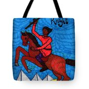 Tarot Of The Younger Self Knight Of Wands Tote Bag