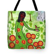 Tarot Of The Younger Self Nine Of Pentacles Tote Bag