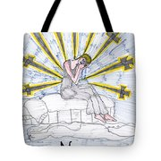 Tarot Of The Younger Self Nine Of Swords Tote Bag