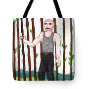 Tarot Of The Younger Self Nine Of Wands Tote Bag