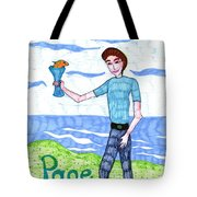 Tarot Of The Younger Self Page Of Cups Tote Bag