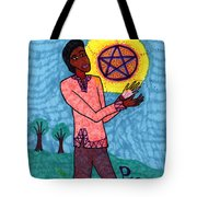 Tarot Of The Younger Self Page Of Pentacles Tote Bag